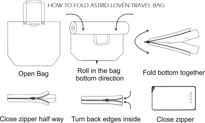 How to fold travel bag