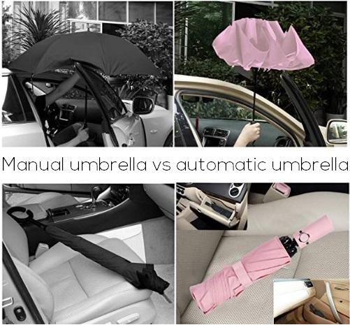 manual umbrella vs automatic umbrella